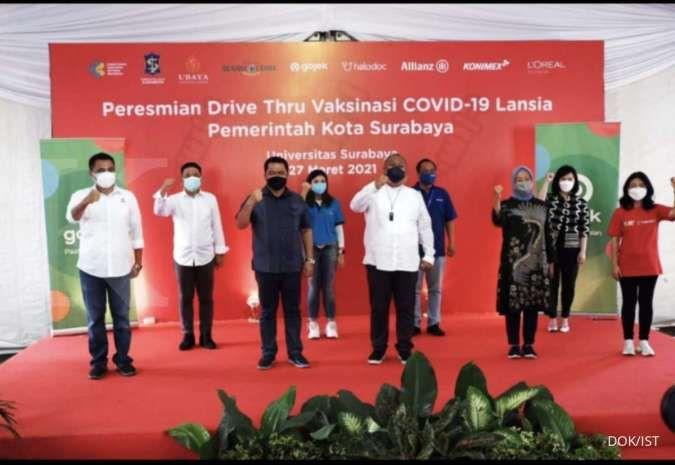 Halodoc, Gojek, dan Technoplast kolaborasi hadirkan vaksinasi drive thru di Surabaya