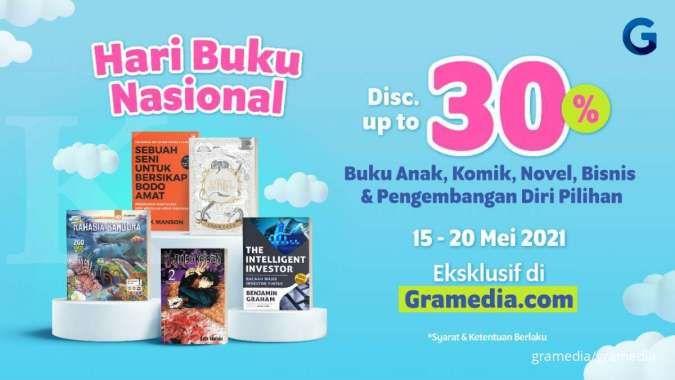 Gelar promo Gramedia, mulai dari diskon 30% hingga buku seharga Rp 0