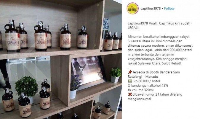 Viral, minuman beralkohol khas Manado Cap Tikus kini sudah legal