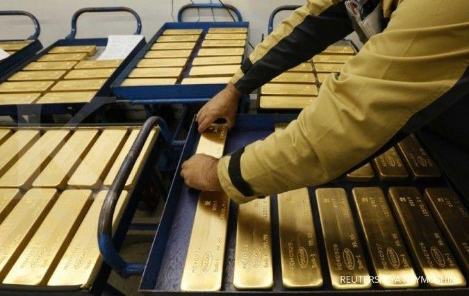 Turun lagi, harga emas sentuh US$ 1.771 per ons troi di pasar spot