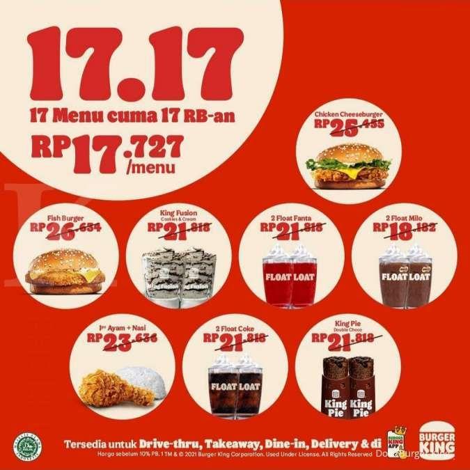 Promo Burger King Spesial Hari Kemerdekaan Indonesia di 17 Agustus 2021