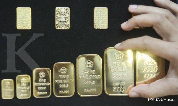 Harga emas Antam di Pegadaian pagi ini Rp 1.043.000 per gram (3 Agustus 2020)