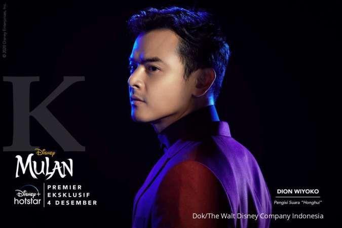 Dion Wiyoko mengisi suara karakter di film Mulan yang akan tayang di Disney+ Hotstar.