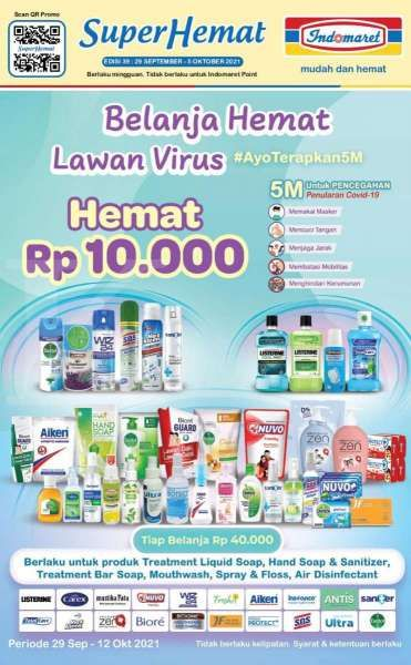 Promo Indomaret Super Hemat Periode 29 September-5 Oktober 2021