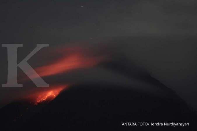 Gunung Merapi kembali mengeluarkan awan panas guguran
