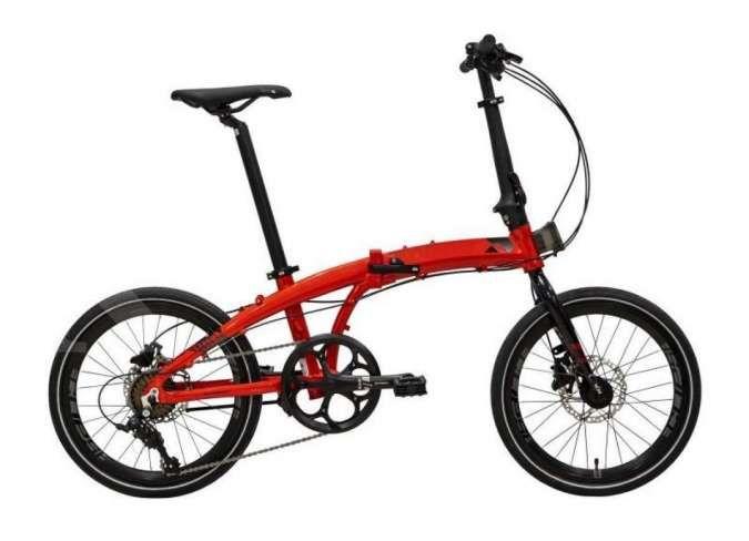 Lagi diskon besar-besaran! Yuk cek harga sepeda lipat Element Ecosmo 8SP Red terkini