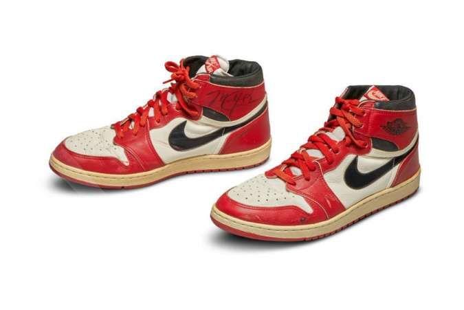Wow, lelang sepatu bekas Michael Jordan, harga terakhir Rp 1,5 miliar