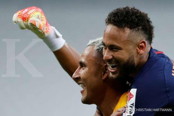 Neymar berada di bawah Lionel Messi pemain dengan performa terbaik musim ini