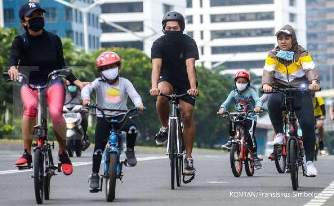 Pesepeda di Jakarta meningkat, lalu lintas kendaraan bermotor menurun sepekan PSBB