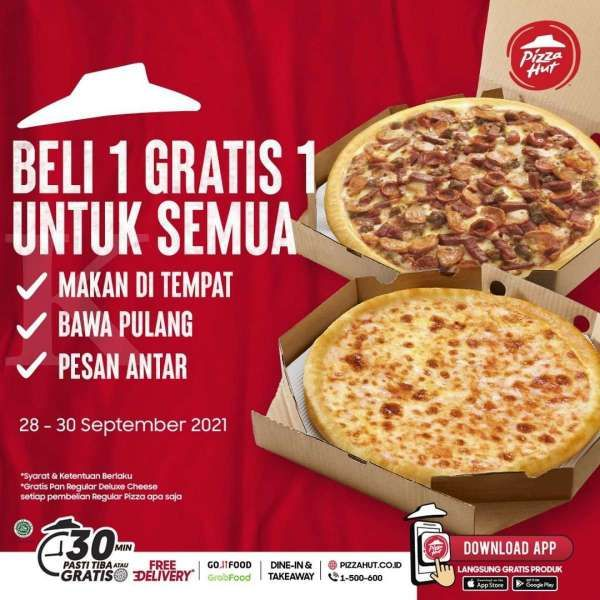 Promo Pizza Hut 28-30 September 2021
