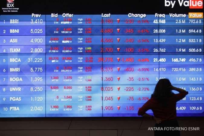 Intip saham-saham yang banyak dikoleksi asing selama sepekan saat IHSG turun