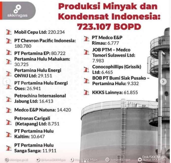 Hore! Realisasi produksi minyak dan gas bumi Indonesia per Mei 2020 naik saat pandemi