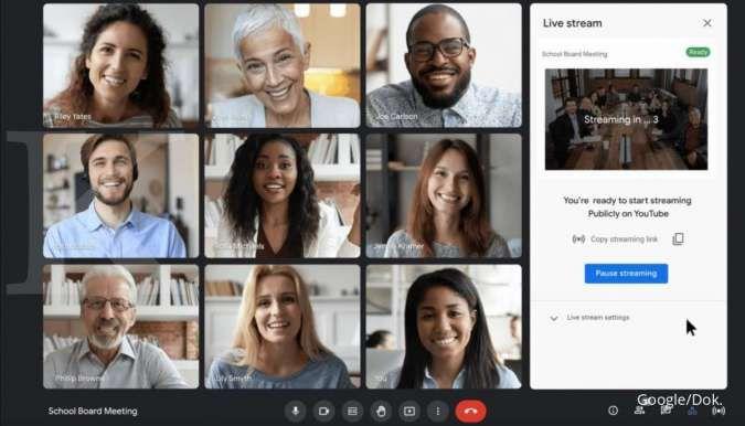 Google Meet perkenalkan fitur bisa live streaming di YouTube, kapan meluncur?
