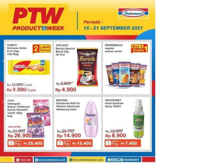 Promo PTW Indomaret minggu ini, diskonnya manttul!