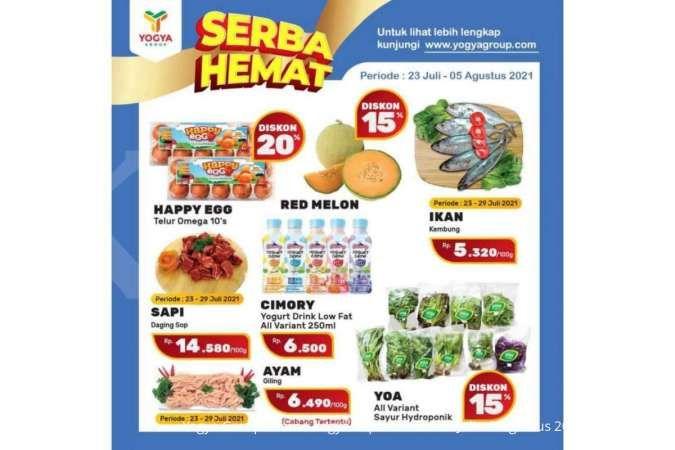 Promo Yogya Supermarket weekday 28 Juli 2021, ada program diskonan Serba Hemat!