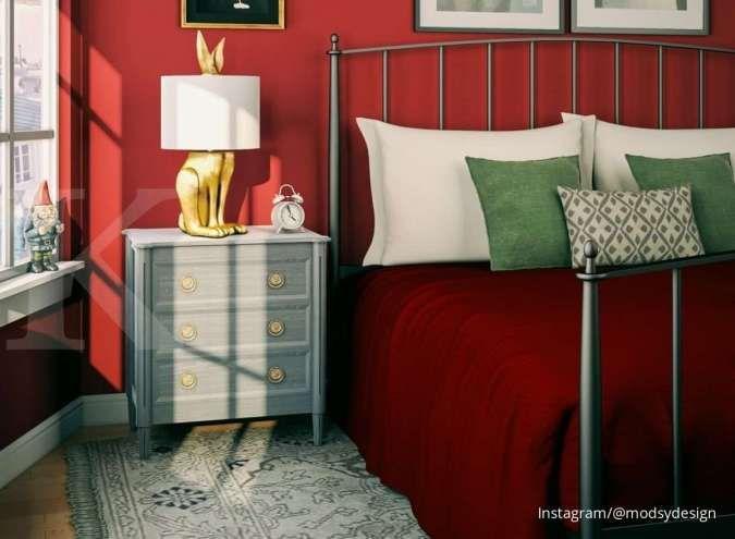 Unik, Ini Inspirasi Interior Rumah dengan Warna Komplementer Hijau dan Merah
