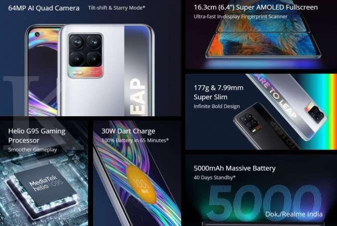 Realme 8 mulai dipasarkan, harga mulai dari Rp 2 jutaan