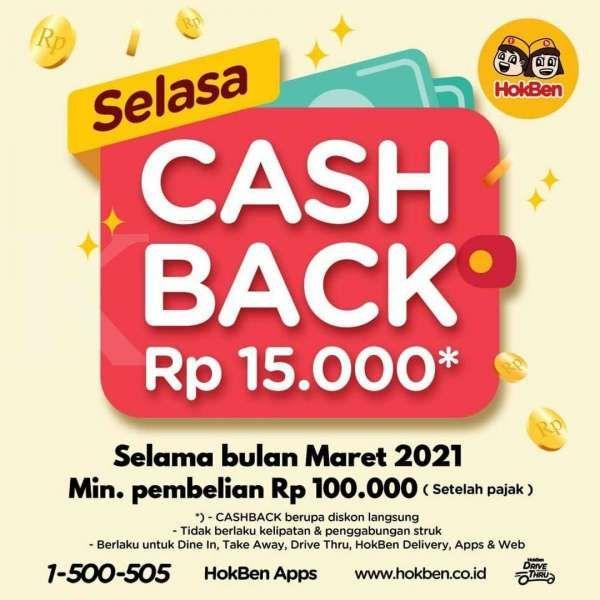 Promo HokBen Selasa Cash Back