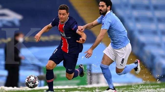 Hasil laga Man City vs PSG di Liga Champions