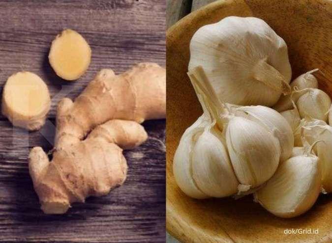 Ramuan herbal jahe dan bawang putih bisa membantu menurunkan kolesterol tinggi