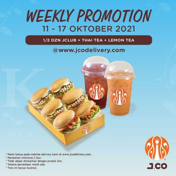 Promo J.CO Mingguan 11-17 Oktober 2021