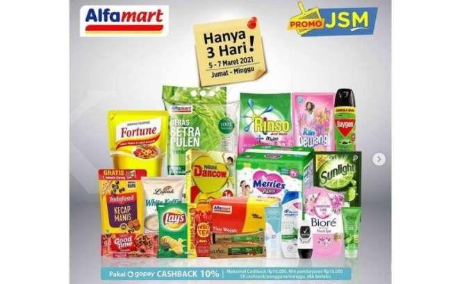 Promo JSM Alfamart 5-7 Maret 2021, hari ini kesempatan terakhir!