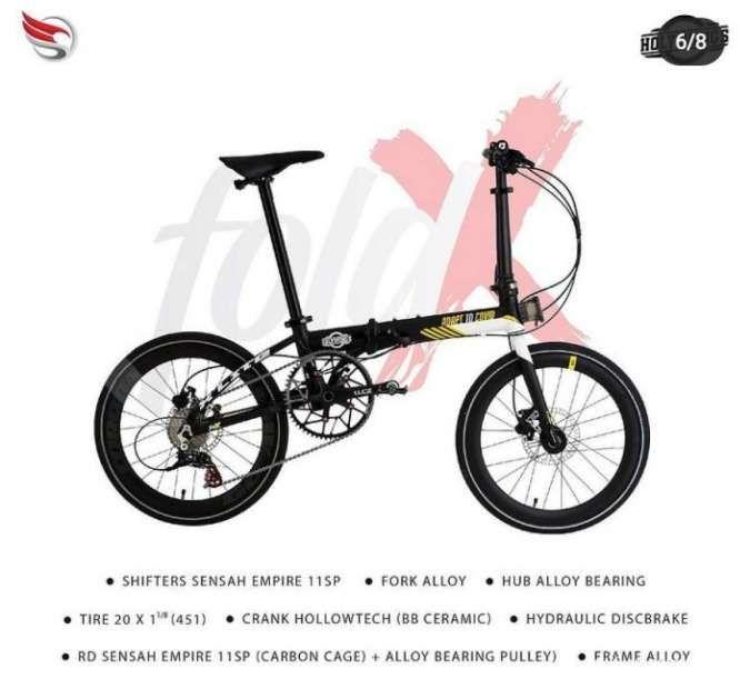 Sepeda lipat Fold Xlite 20 Adapt to Covid baru beredar.