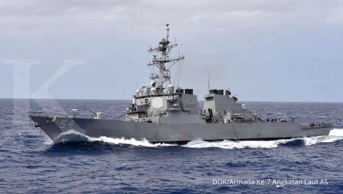 Kapal perusak AS berlayar di Selat Taiwan, China siaga tinggi