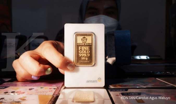 Turun Rp 1.000, harga emas Antam di Rp 917.000 per gram pada hari ini, Senin (20/9)