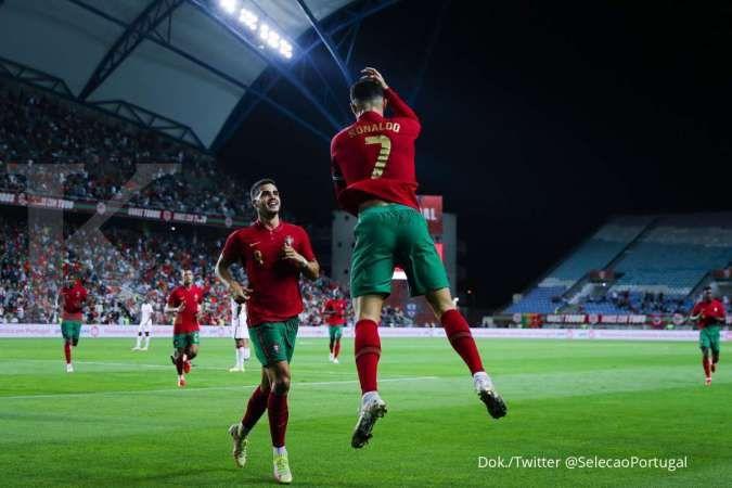 Hasil kualifikasi Piala Dunia 2022 Portugal vs Luksemburg
