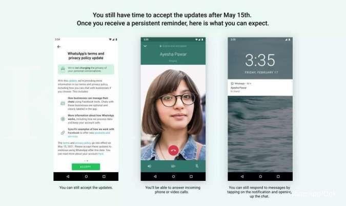 Kebijakan privasi baru WhatsApp