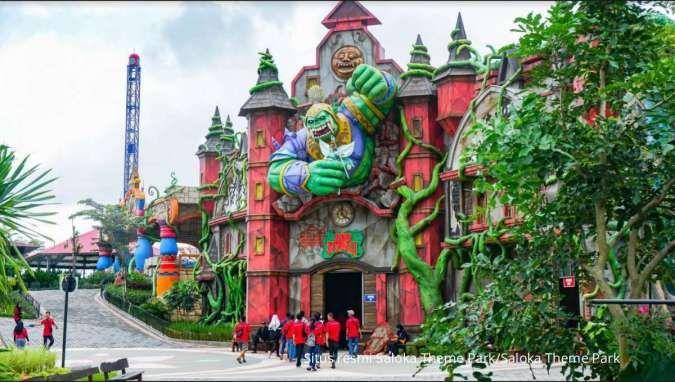 Cocok jadi tujuan liburan bersama keluarga, ini harga tiket masuk Saloka Theme Park