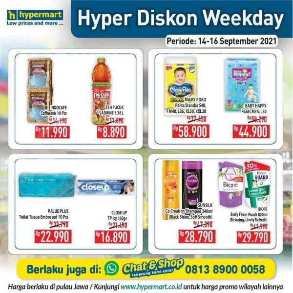 Katalog Promo Hypermart Hyper Diskon Weekday Periode 14-16 September 2021