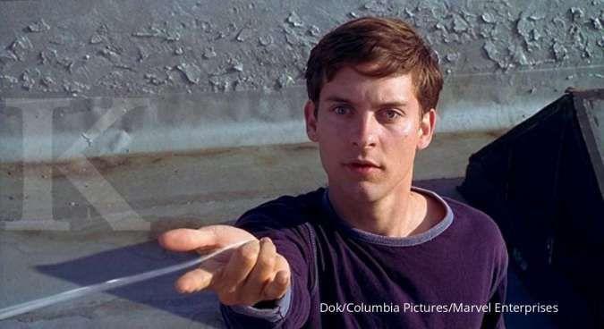 Tobey Maguire pemeran Spider-Man.