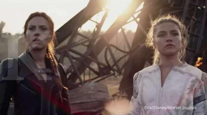 Black Widow rilis video baru, aksi Scarlett Johansson dan Florence Pugh dengan mobil