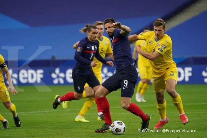Hasil Kualifikasi Piala Dunia 2022, Prancis vs Ukraina berakhir Imbang 1-1