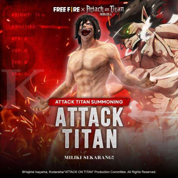 Bundle Attack Titan - Garena Free Fire