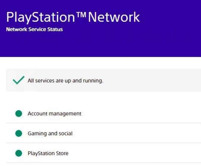 Status PS Network sudah kembali normal
