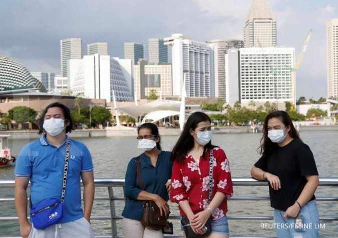 Kasus infeksi corona di Singapura naik dari 100 menjadi 1.000 dalam sebulan