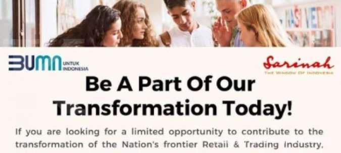 Ada lowongan menarik di BUMN retail untuk fresh graduate, cek info lengkapnya ini