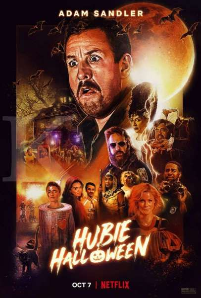 Poster Hubie Halloween, film Netflix terbaru yang dibintangi Adam Sandler.