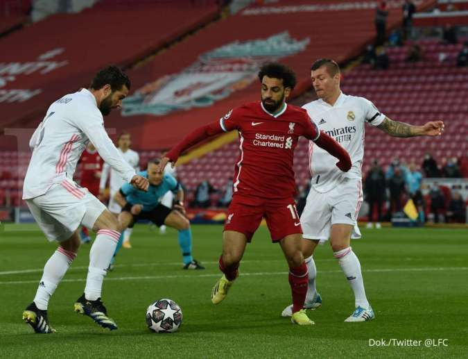 Hasil laga Liverpool vs Real Madrid di Liga Champions
