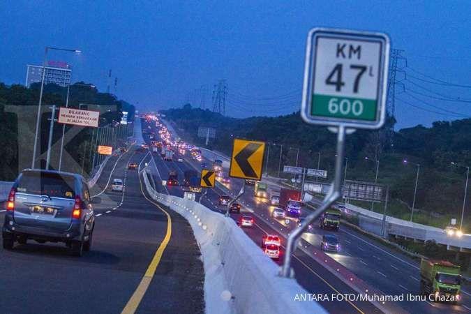 Jasa Marga mencatat arus balik ke Jakarta capai 134.000 kendaraan pada H+1 Idul Adha. ANTARA FOTO/M Ibnu Chazar/hp.