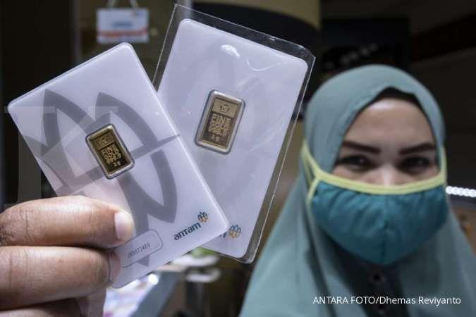 Harga emas 24 karat Antam turun Rp 17.000 per gram, Rabu 8 April 2020