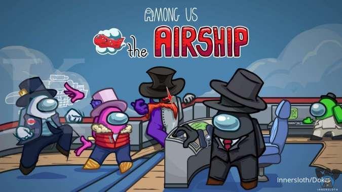 Siap-siap cari Impostor di Airship, map baru Among Us rilis akhir bulan ini
