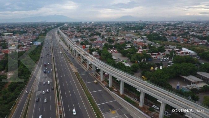 Proyek LRT Jabodetabek tahap I mencapai 55,9% pada akhir 2018