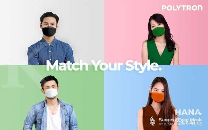 Produsen elektronik Polytron ikut rilis masker kesehatan dengan merek Hana Masker