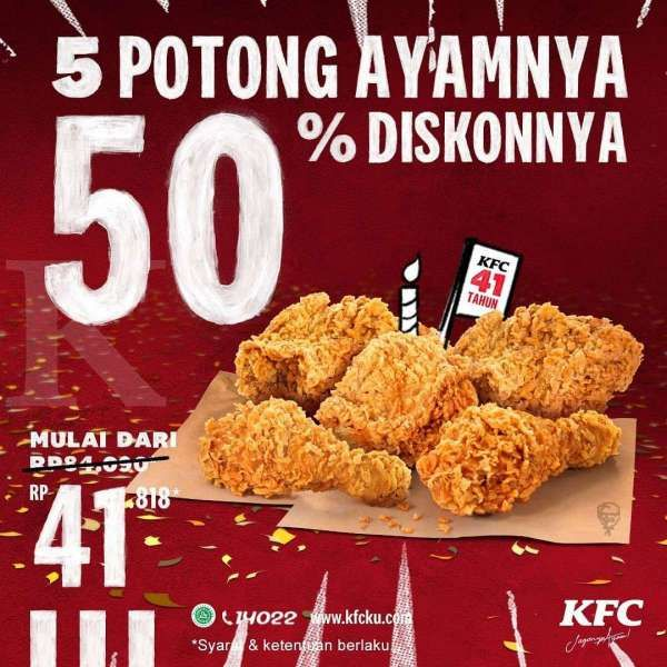 Promo KFC periode 19-21 Oktober 2020