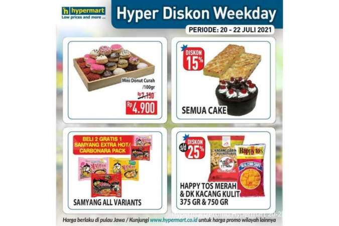 Promo Hypermart weekday 21 Juli 2021, belanja hemat di hari kerja!