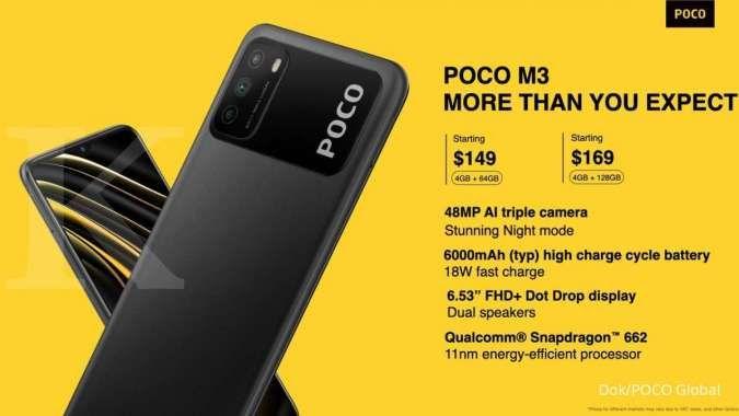 Spesifikasi dan harga POCO M3
